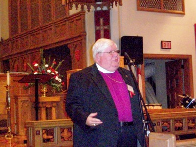 Bishop Price in the church