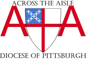 Across the Aisle logo with name and diocese name