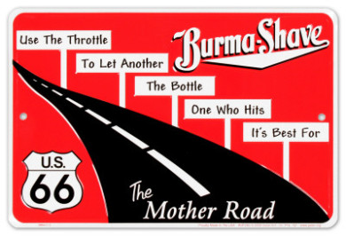 Burma-Shave sign set