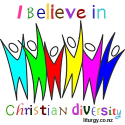 I believe in Christian diversity logo