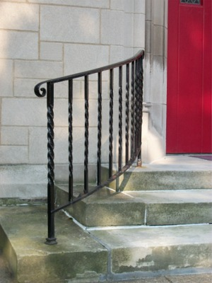 Railing at main entrance