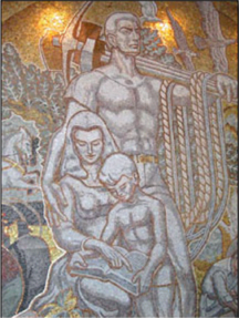 Mural in AFL-CIO Washington Headquarters (detail)