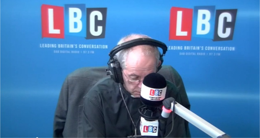 Justin Welby on LBC