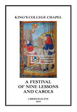 Service booklet cover from King's College