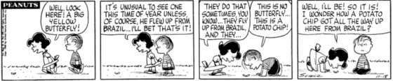 Peanuts strip from November 18, 1960