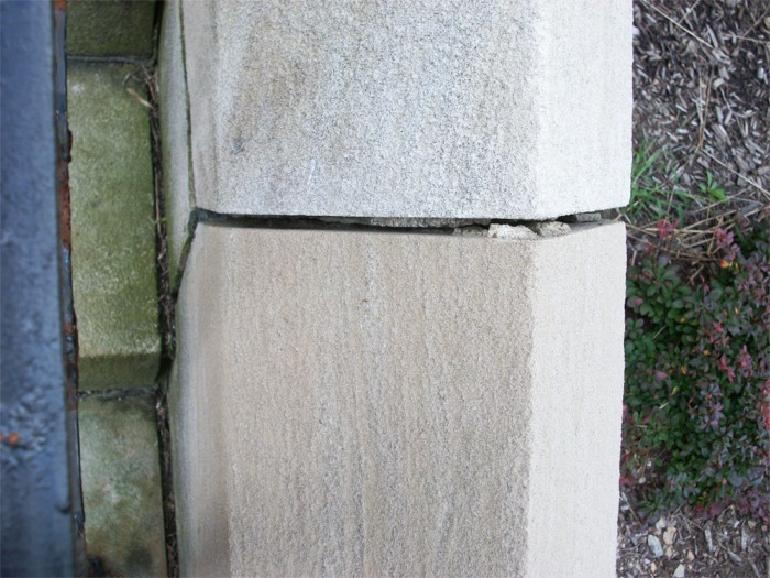 Bad mortar joint