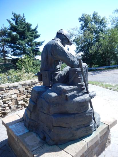 Miner statue (rear)