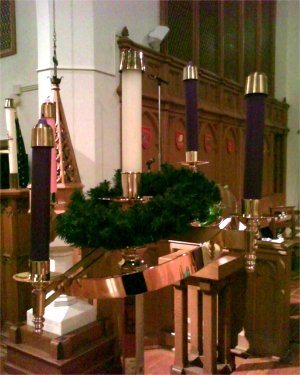 Advent candelabrum