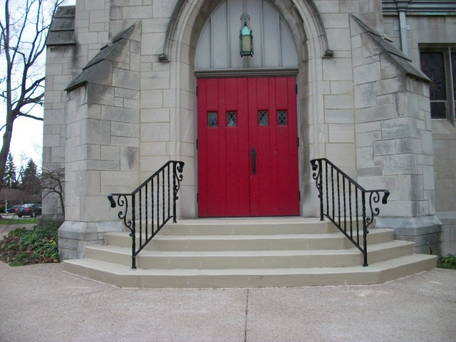 Mayfair Drive entrance to narthex