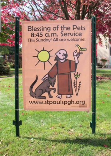Banner for pet blessing