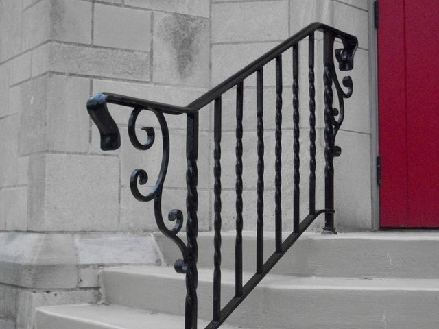 Detail of new railing