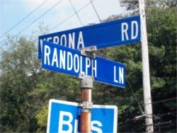 Street sign at corner
