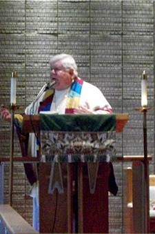 Bishop Price delivering sermon