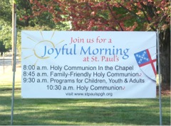 """Joyful Morning"" facing southbound traffic"