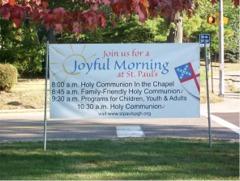 """Joyful Morning"" facing northbound traffic"