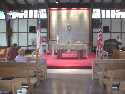 The church before the service began