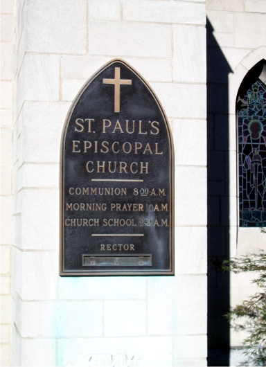 St. Paul's plaque