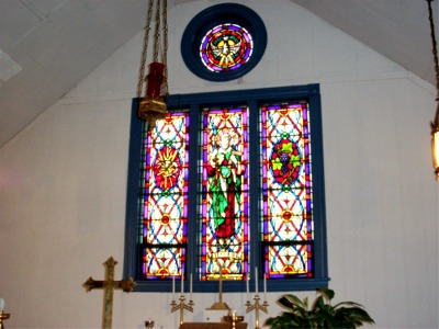 Altar and east windows