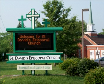 Sign at St. David's