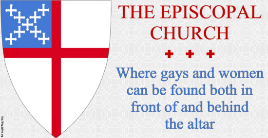 The Episcopal Church: Where guys and women can be found both in front of and behind the altar