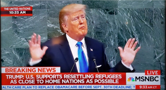 Trump speaking to the U.N.