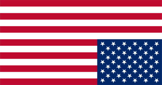 Inverted American flag
