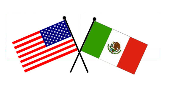 U.S. and Mexico flags