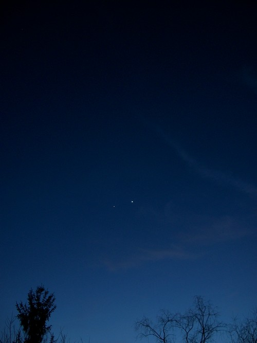 Convergence of Venus and Jupiter