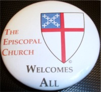 """The Episcopal Church Welcomes All"" button"