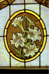 Stained glass lilies