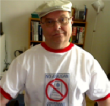 Lionel Deimel in No Anglican Covenant T-shirt